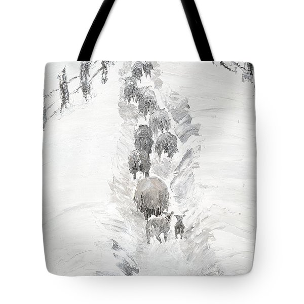 Follow The Flock Tote Bag