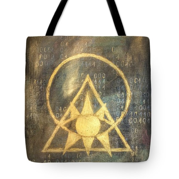 Follow The Light - Illuminati And Binary Tote Bag