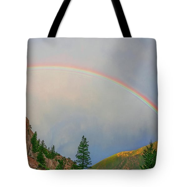 Follow The Rainbow To The Majestic Rockies Of Colorado.  Tote Bag by Bijan Pirnia