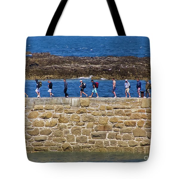 Tote Bag featuring the photograph Follow The Yellow Brick Road by Terri Waters