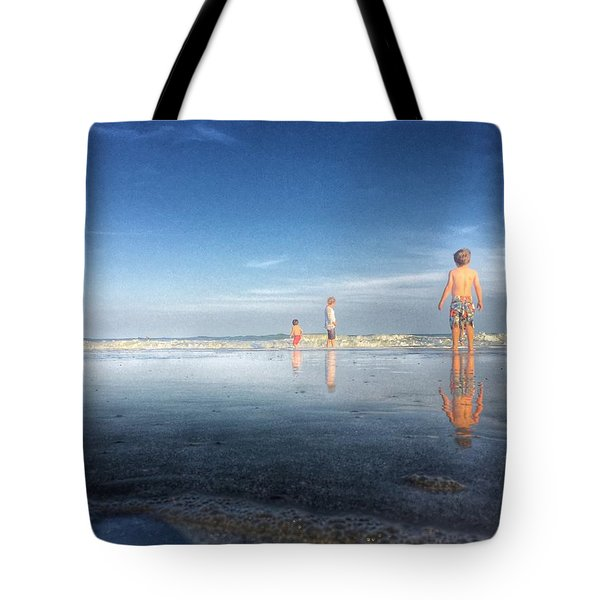 Folly Beach Reflections Tote Bag