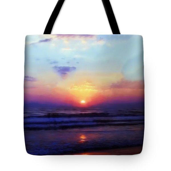 Folly Beach South Carolina Sunrise Tote Bag