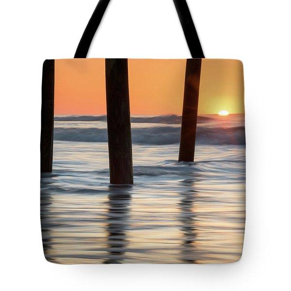 Folly Beach Sunrise Charleston South Carolina Tote Bag by Mark VanDyke