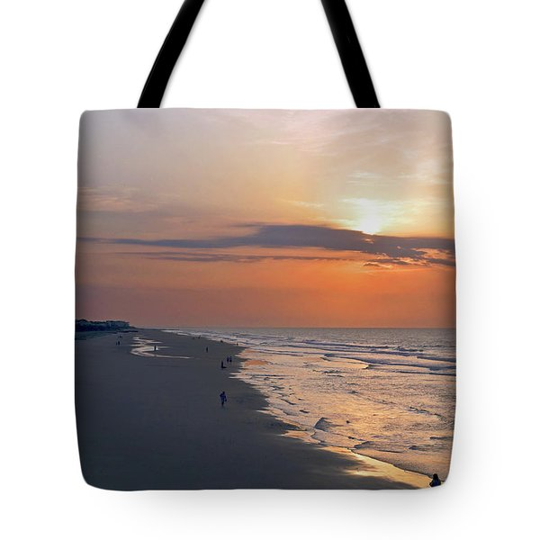 Folly Beach Sunrise Tote Bag by Meta Gatschenberger