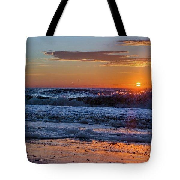 Folly Beach Sunrise Tote Bag by RC Pics