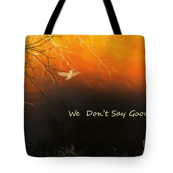 Fond Thoughts Tote Bag by Trilby Cole