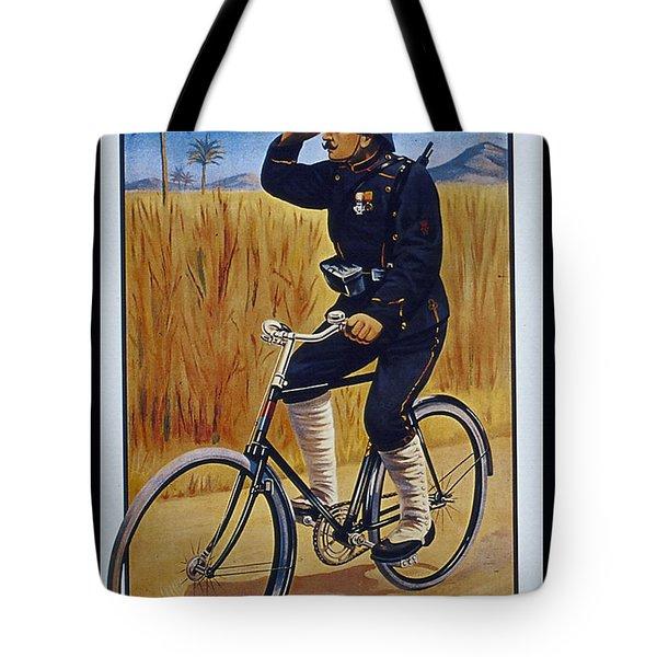 Fongers In Gebruik Bil Nederlandsche En Nederlndsch Indische Leger Vintage Cycle Poster Tote Bag