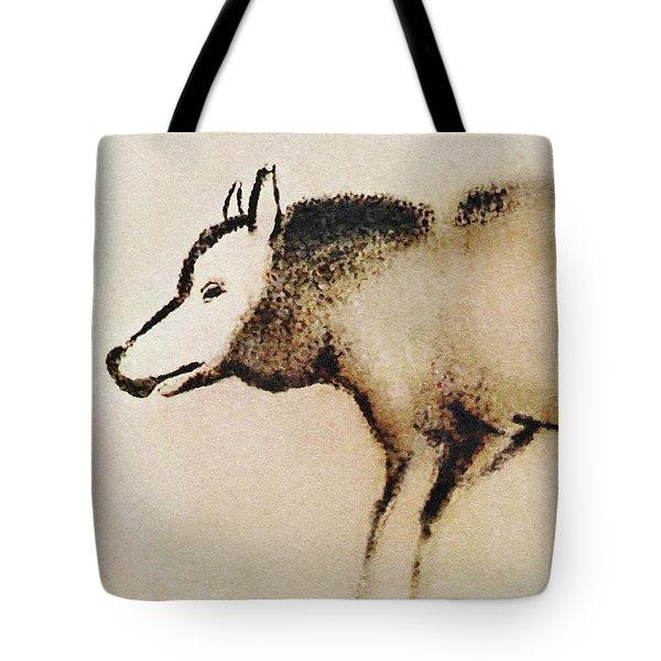 Font De Gaume Wolf Tote Bag