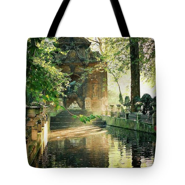 Fontaine De Medicis Tote Bag