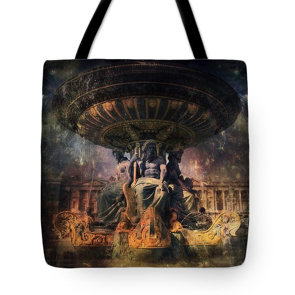 Tote Bag featuring the photograph Fontaine Des Fleuves by John Rivera