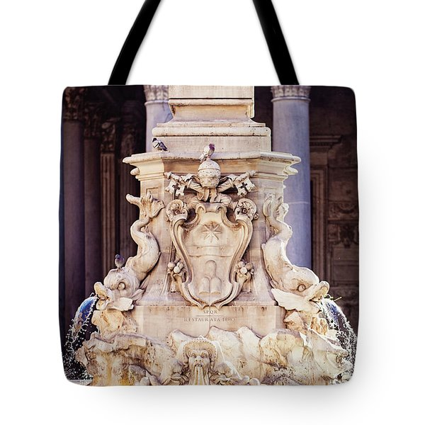 Fontana Del Pantheon - Pantheon Fountain II Tote Bag by Melanie Alexandra Price