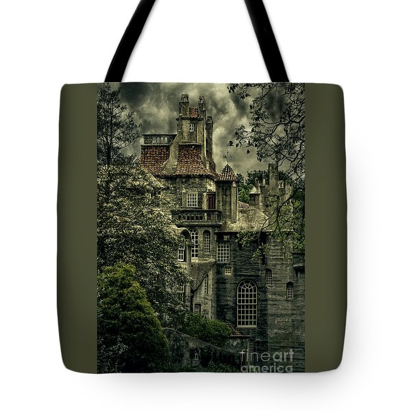 Fonthill With Storm Clouds Tote Bag