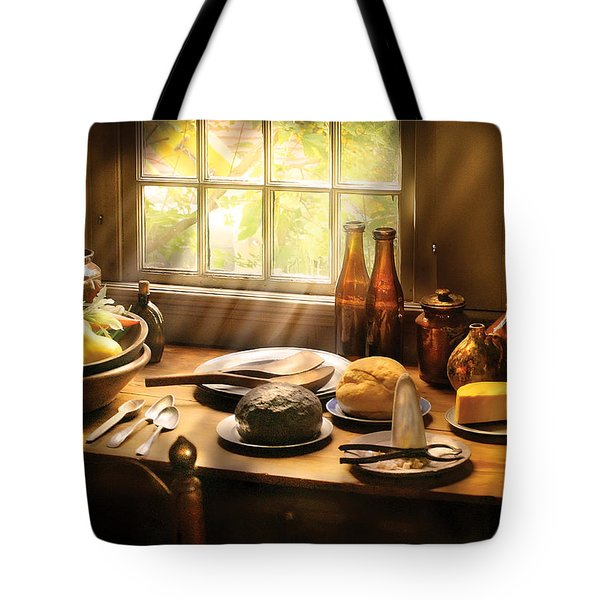 Food - Ready For Guests Tote Bag by Mike Savad