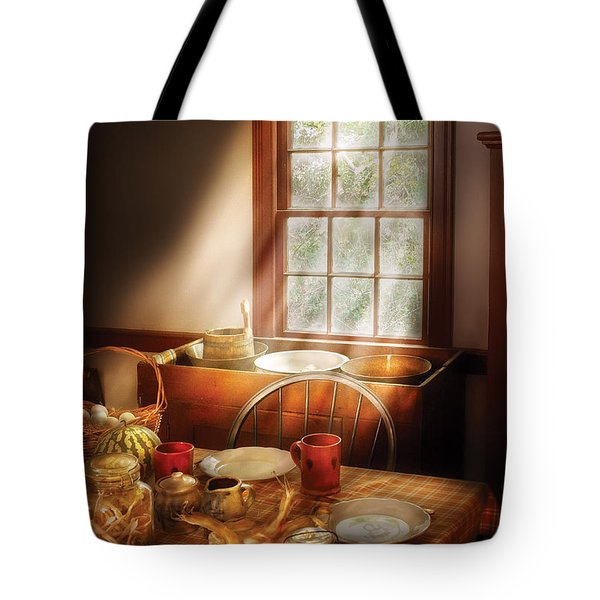 Food - Sunday Brunch Tote Bag by Mike Savad