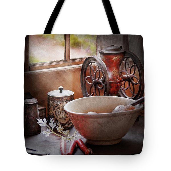 Food - The Morning Chores Tote Bag by Mike Savad