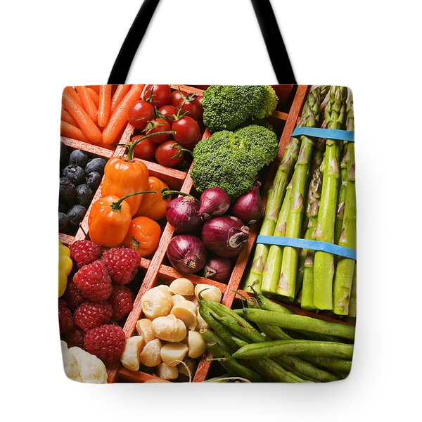 Food Compartments  Tote Bag by Garry Gay