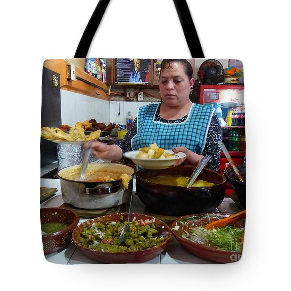 Food Court In Paracho Tote Bag