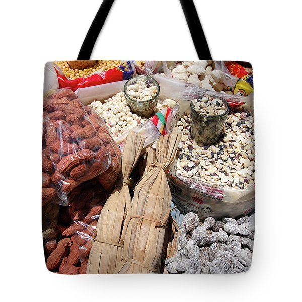 Tote Bag featuring the photograph Food Market by Aidan Moran