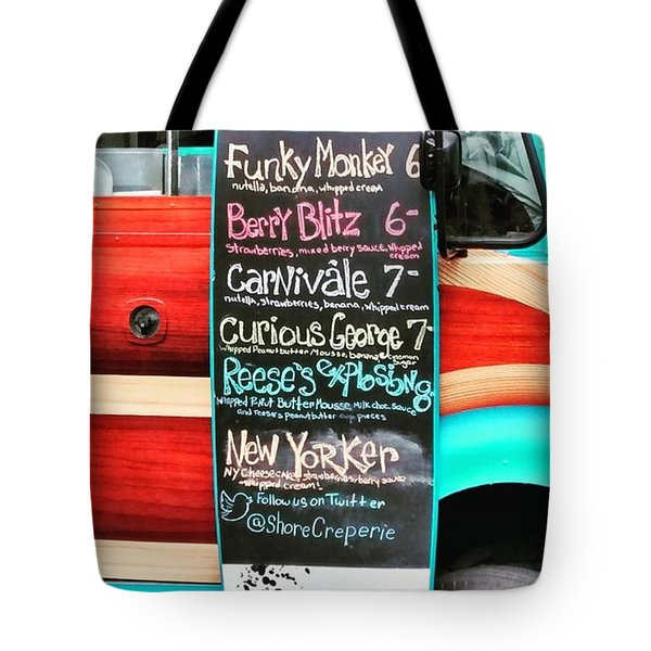 Funky Monkey Food Truck Tote Bag by Colleen Kammerer