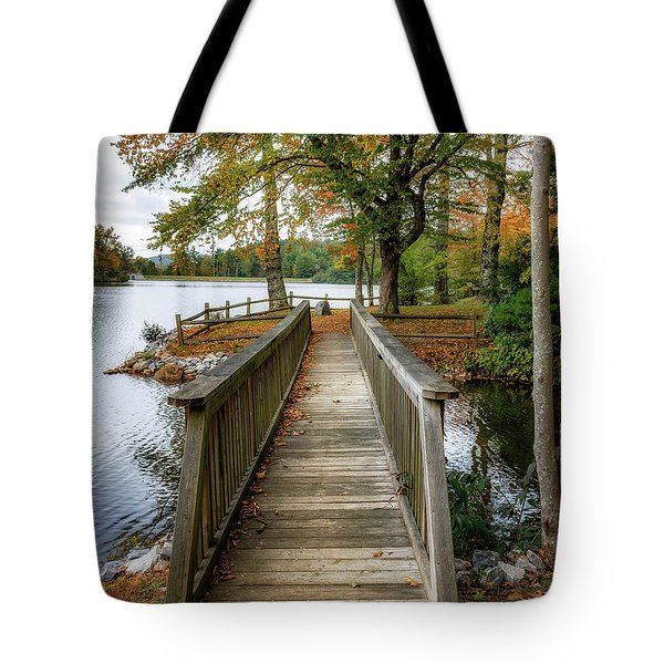 Foot Bridge At Linville Land Harbor Tote Bag