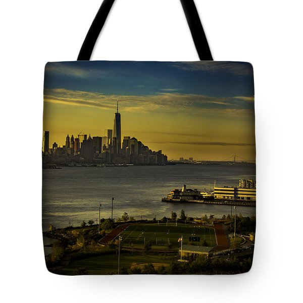 Football Field With A View Tote Bag