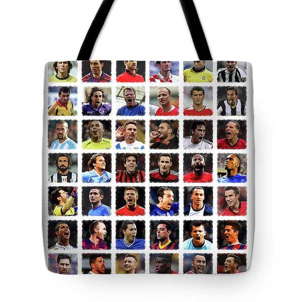 Football Legends Tote Bag by Semih Yurdabak