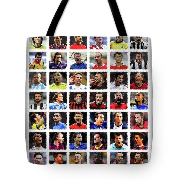 Football Legends Tote Bag