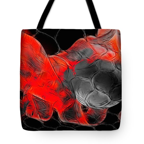 Football Tote Bag by Manfred Lutzius