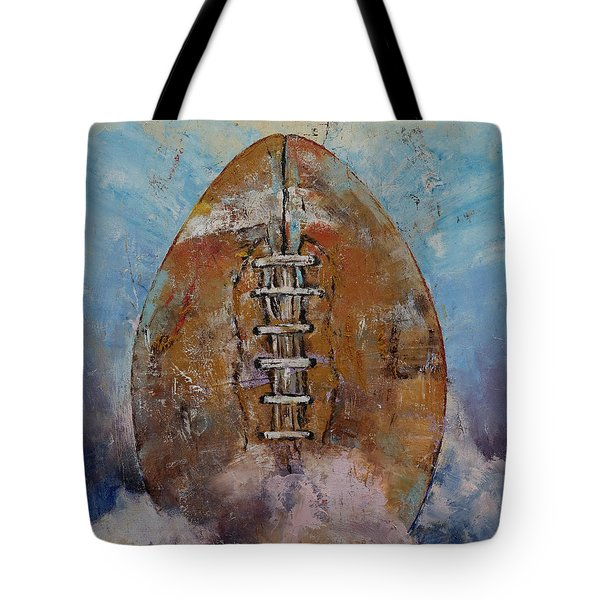 Football Tote Bag by Michael Creese