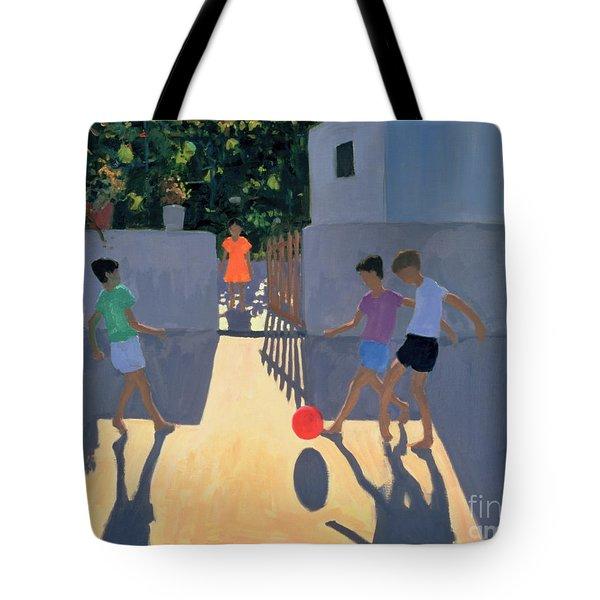 Footballers Tote Bag by Andrew Macara