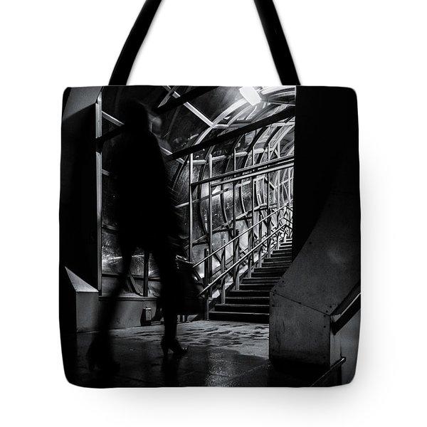 Tote Bag featuring the photograph Footbridge Blur by John Williams