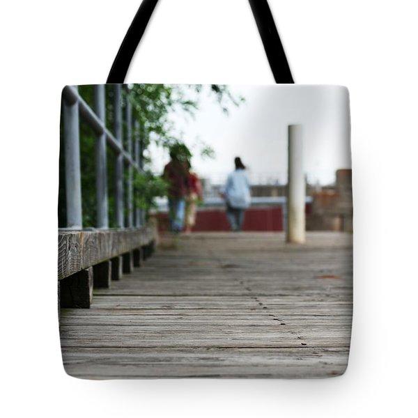 Footbridge Tote Bag by David S Reynolds