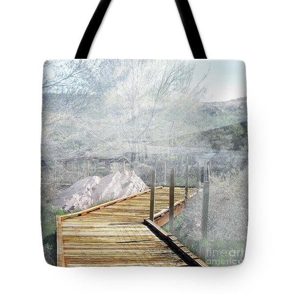 Footbridge In The Clouds Tote Bag
