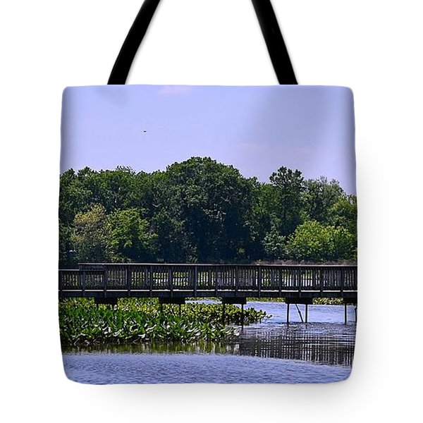 Footbridge Over Marsh Tote Bag