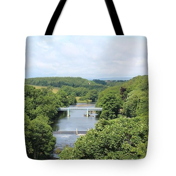 Footbridge Over The River Tees Tote Bag