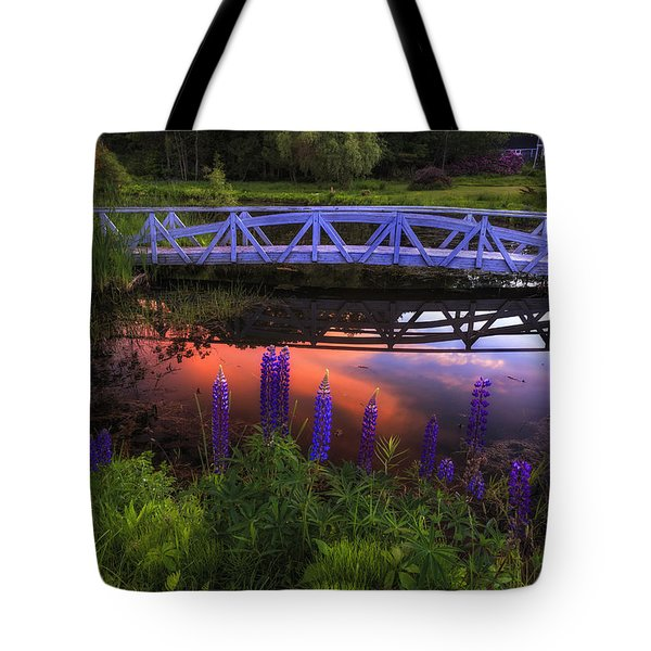 Footbridge Sunset Tote Bag