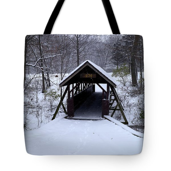 Footbridge To Wonderland Tote Bag by Scott Kingery