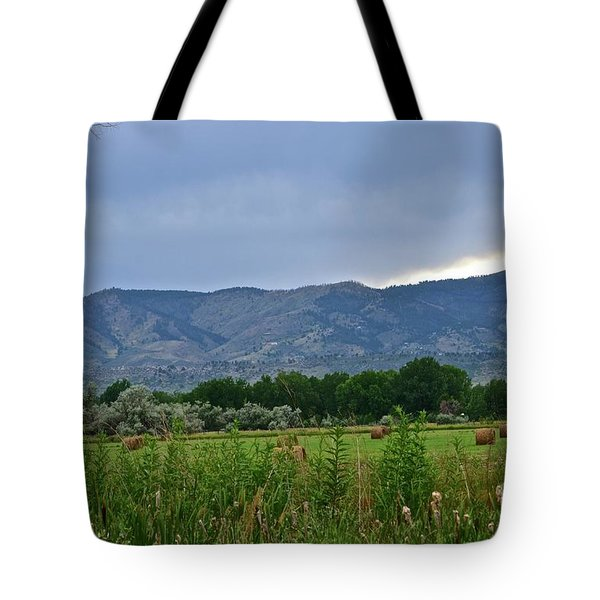 Foothills Of Fort Collins Tote Bag