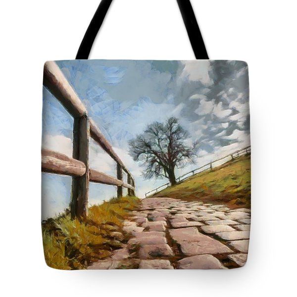 Footpath Tote Bag by Sergey Simanovsky