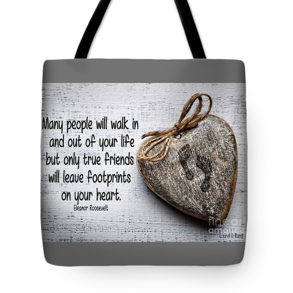 Footprint On Your Heart Tote Bag