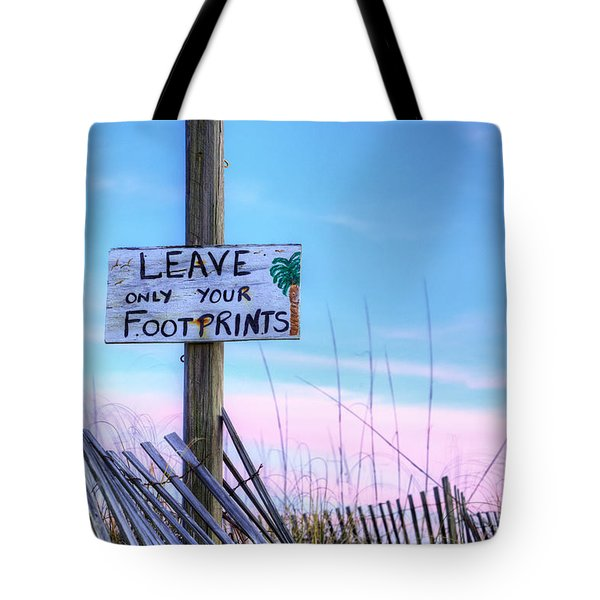 Tote Bag featuring the photograph Footprints In Fort Morgan by JC Findley