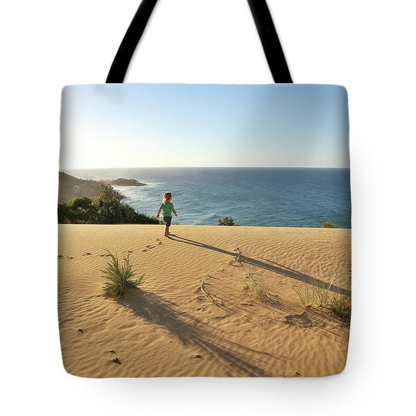 Footprints In The Sand Dunes Tote Bag