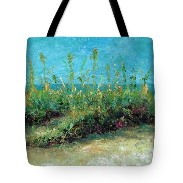 Footprints In The Sand Tote Bag by Frances Marino