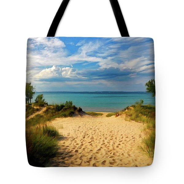 Footprints In The Sand P D P Tote Bag by David Dehner