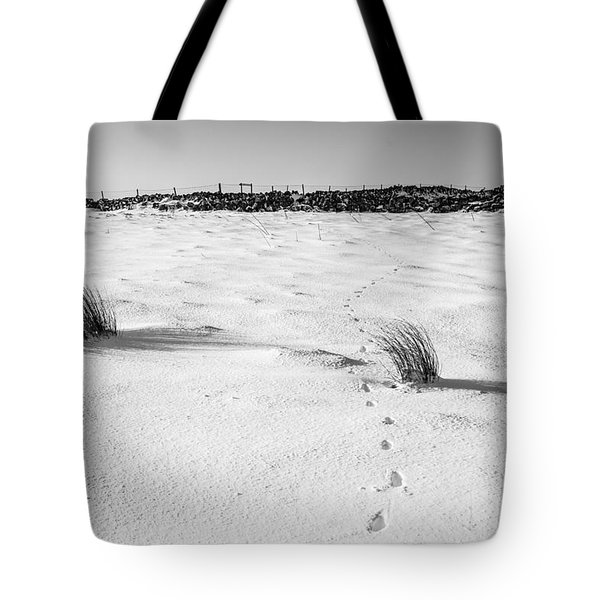 Footprints In The Snow I Tote Bag