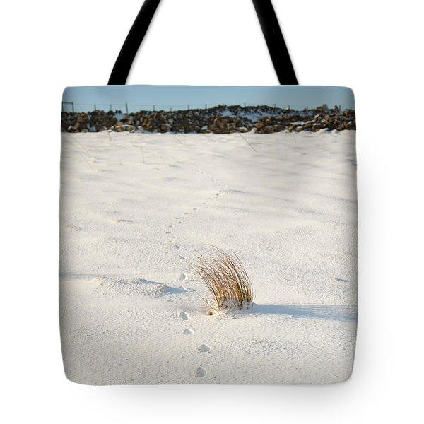 Footprints In The Snow II Tote Bag