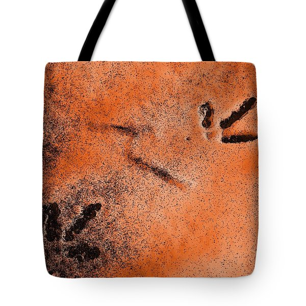 Tote Bag featuring the photograph Footprints In The Snow by Richard Ricci