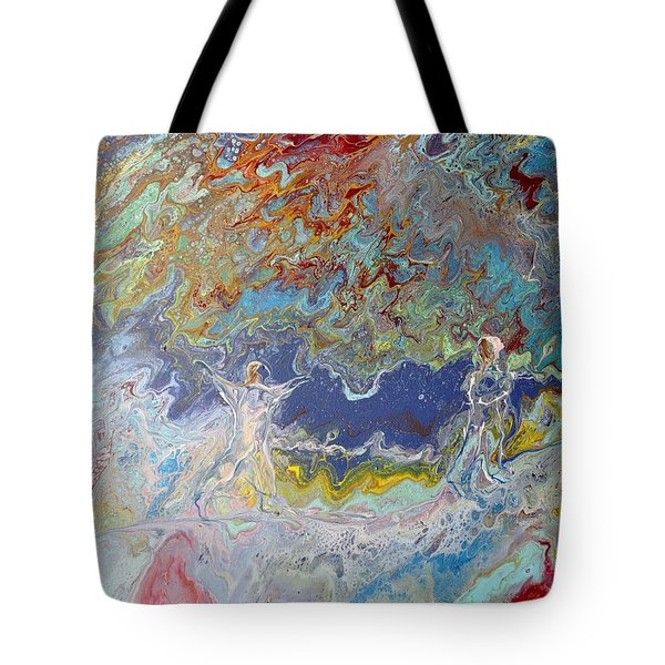 Tote Bag featuring the painting For All Eternity by Deborah Nell