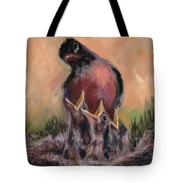Tote Bag featuring the painting For Crying Out Loud by Billie Colson