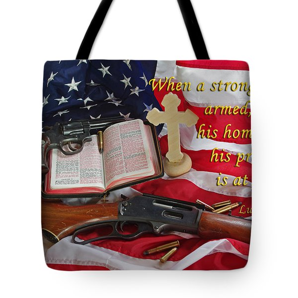 For God, Family And Country Tote Bag by Robyn Stacey